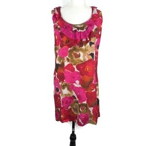 Ann Taylor Loft Women's Pink and Red Floral Dress